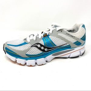 Saucony Progrid Mirage 3 white blue running shoes